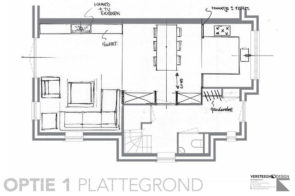 Plattegrond Keuken Ontwerpen : eengezinswoning-indelingsschetsen-voorbeeld-3