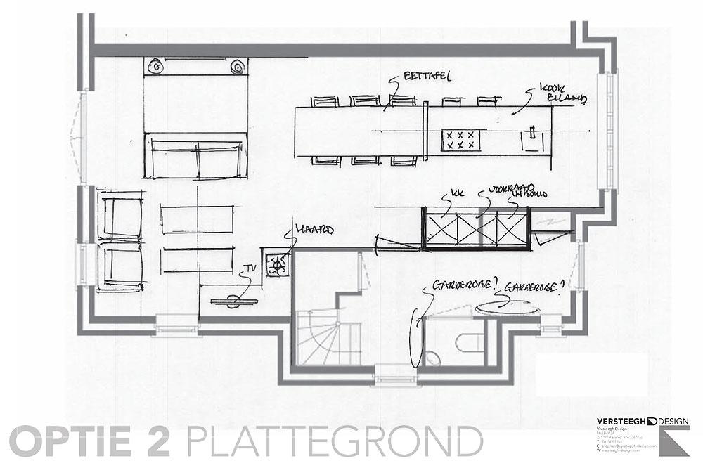 Plattegrond Keuken Ontwerpen : eengezinswoning-indelingsschetsen-voorbeeld-4