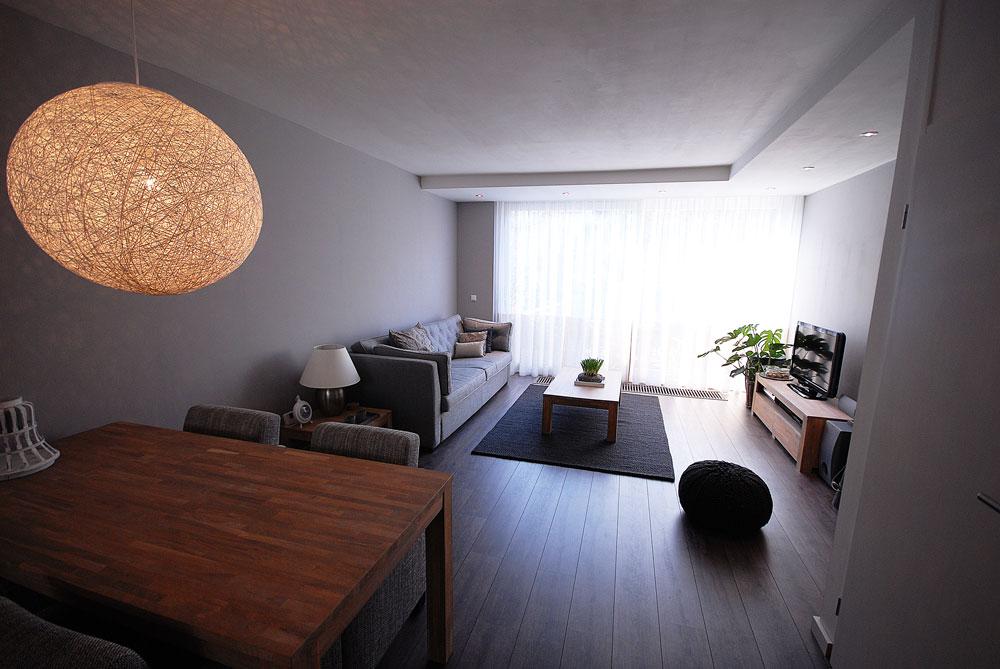 Gezinswoning metamorfose for Deco van woonkamer design