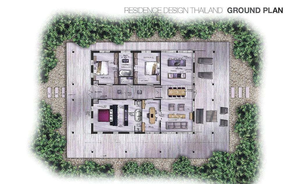 villa architecten: Villa ontwerp Thailand