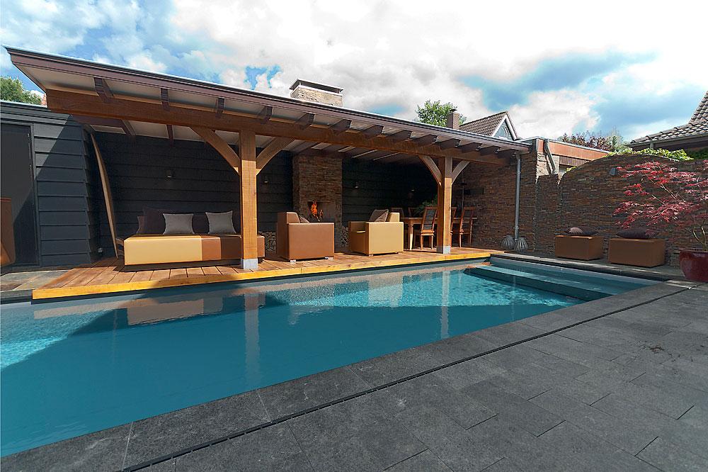 Een wellness relax tuin aan huis zwembad huis - Tuin en zwembad design ...