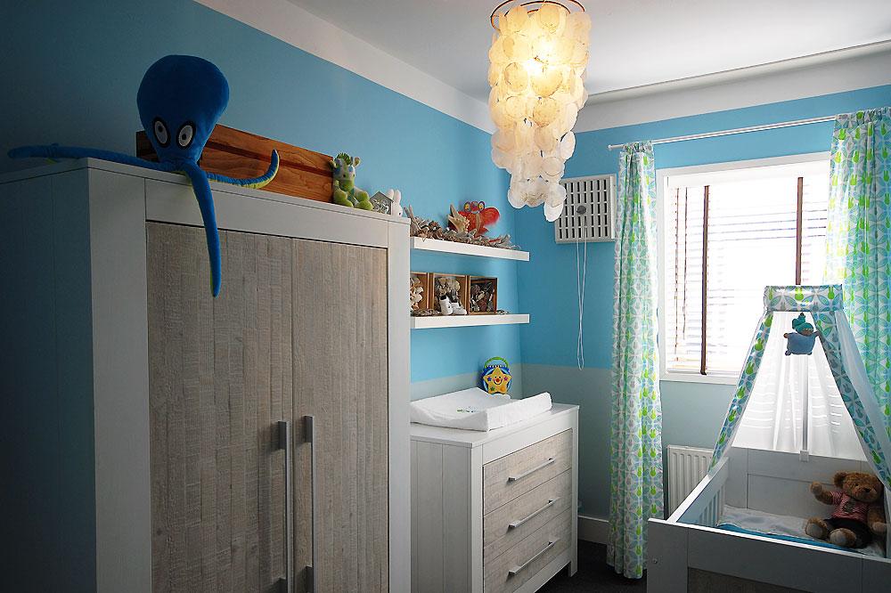 Baby ontwerp sterren kamer gehoor geven aan uw huis - Deco blauwe kamer ...