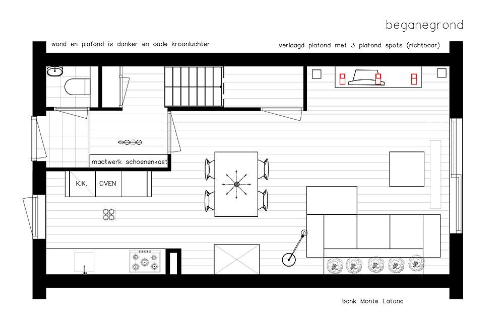 Nieuwbouw huis interieur ontwerp for Ontwerp plattegrond