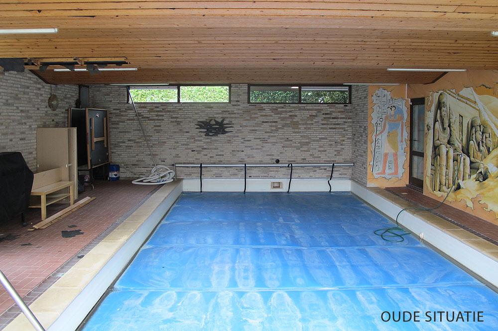 Minimalistisch oosters zwembad wellness design