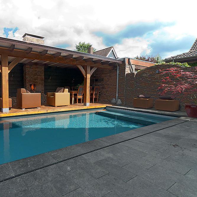 Wellness tuin met een ware buiten huiskamer en eetkamer - Tuin en zwembad design ...