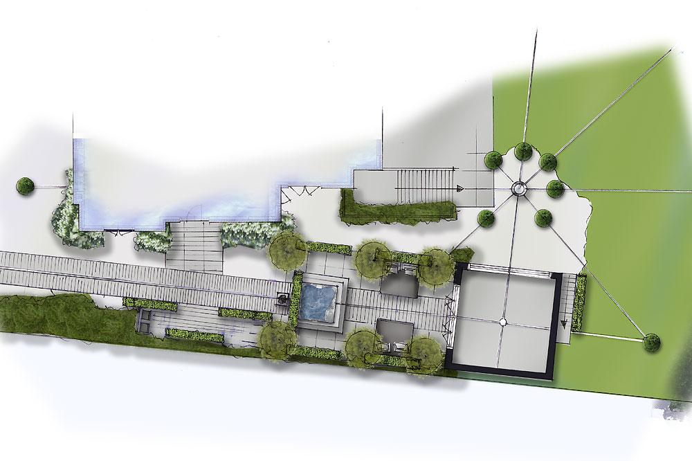 Een tuinontwerp als logisch vervolg van uw interieur - Tuin interieur design ...