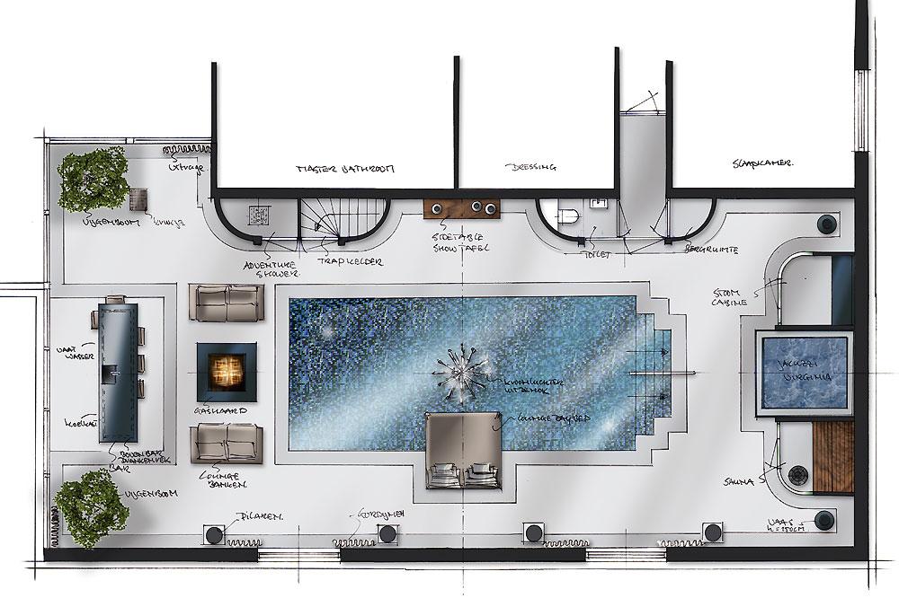 Maak van uw zwembad of sauna een eigen wellness - Zwembad interieur design ...