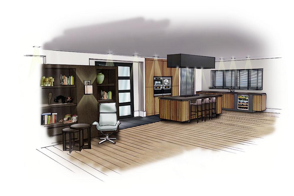 Hek idee houten gehoor geven aan uw huis - Idee van interieurontwerp ...