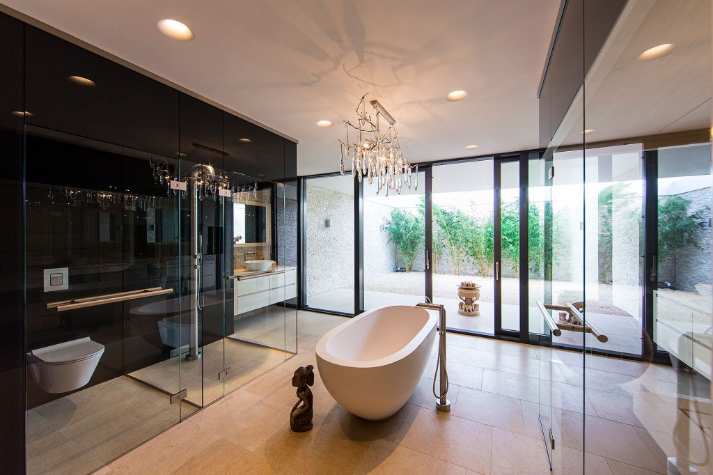 Water villa wellness for Binnen interieur