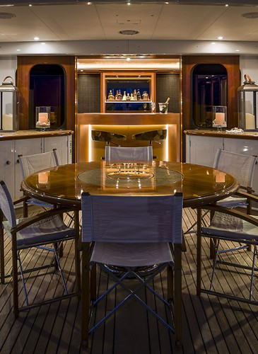Boat deck super yacht