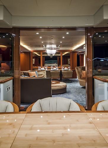 Interior super yacht