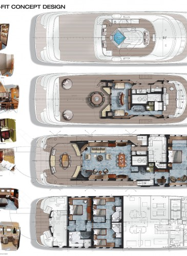 drawing yacht design