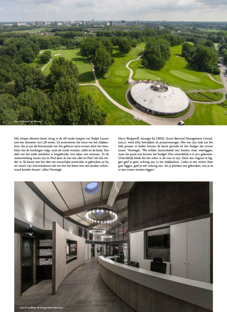 Interieur ontwerp golfclub de hooge rotterdamsche for Interieur ontwerp