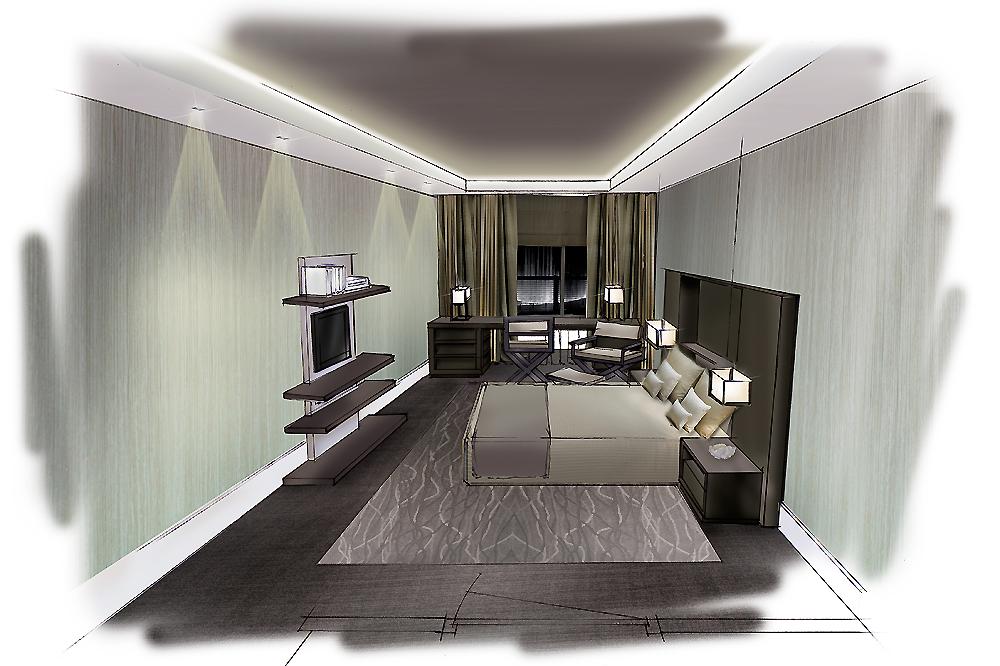Hotelkamer interieur ontwerp versteegh design architecture