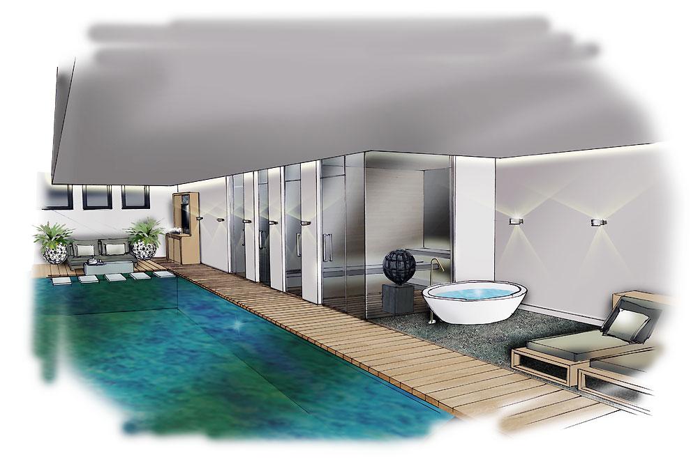 Souterrain zwembad ontwerp versteegh design architecture interior