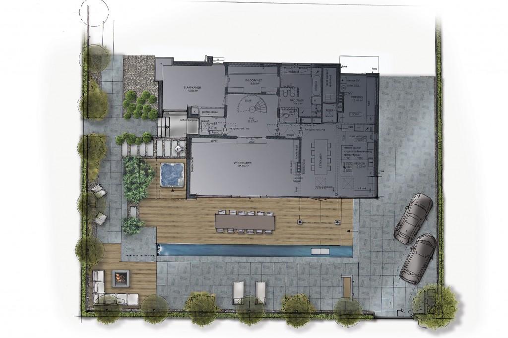 Wellness tuin ontwerp for Ontwerp plattegrond