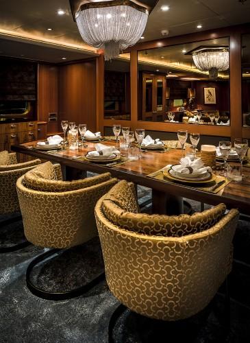 dinner table yacht