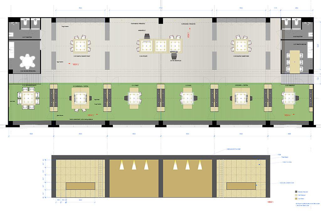 Kantoor ontwerp plattegrond versteegh design versteegh for Ontwerp plattegrond