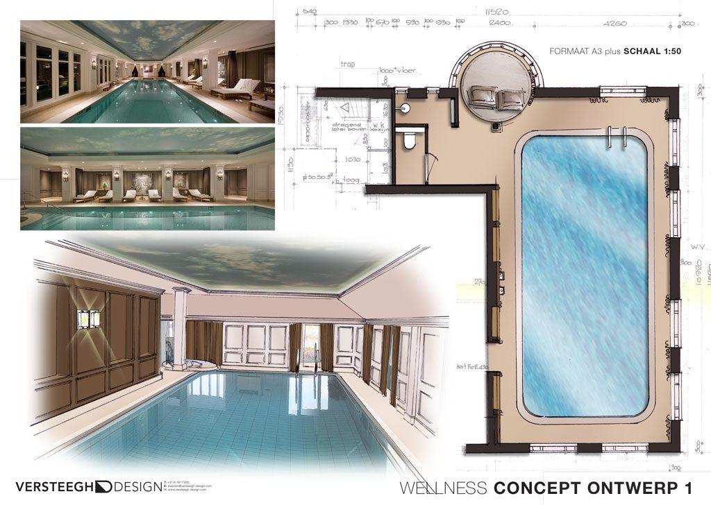 Klassiek zwembad ontwerp versteegh design versteegh design